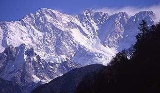 Kangchenjunga - South-west (Yalung) face of Kangchenjunga seen from Nepal