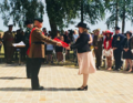 Karen Bradley MP lays a wreath at the Ulster Tower (29365768468).png
