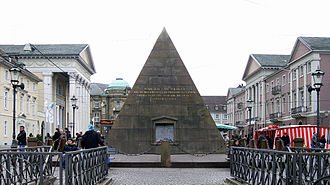 Charles III William, Margrave of Baden-Durlach -  pyramid on the market square