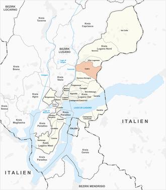 Cadro - Image: Karte Quartier Cadro 2013