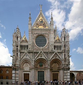 History of Catholic mariology - Santa Maria Assunta (Church of the Assumption), was built in 1215 in Siena as a precursor to the expression of Marian motifs in Renaissance art and architecture.