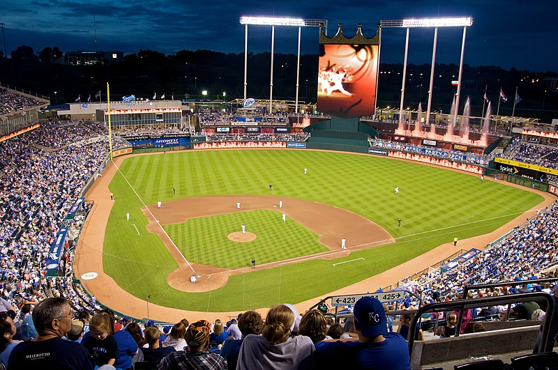 File:Kauffman Stadium at night, 2009.jpg