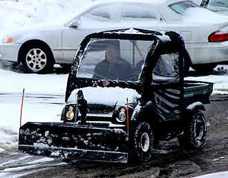 Utility vehicle - Kawasaki Mule used for snow removal