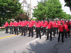 Ohio State University Athletic Band - The 2006 Spring Athletic Band marching in the Kentucky Derby Parade.