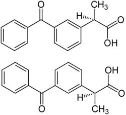 Strukturformel von Ketoprofen