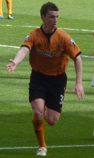 Kevin Foley (footballer) - Foley playing for Wolverhampton Wanderers in 2010