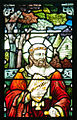 Kildare Cathedral Nave South Window 05 Saint Finnian of Moville Detail 2013 09 04.jpg
