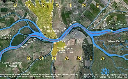 Harta Deltei Dunarii Detaliata