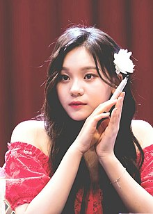 Kim Umji at Noryangjin Fansign in July 21, 2018 (3).jpg