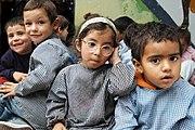 Kindergarten kids at a public school in Montevideo, Uruguay