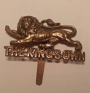 King's Own Royal Regiment (Lancaster) - Cap badge of the King's Own Royal Regiment (Lancaster).