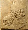 King Ashurnasirpal II, Nimrud, Northwest Palace chamber G, slab 13, view 1, Neo-Assyrian period, reign of Ashurnasirpal II, 883-859 BC, alabaster - Oriental Institute Museum, University of Chicago - DSC07482.JPG