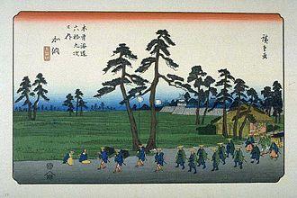 The Sixty-nine Stations of the Kiso Kaidō - Image: Kisokaido 53 Kano