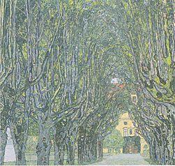 Avenue dans le parc de Schloss Kammer