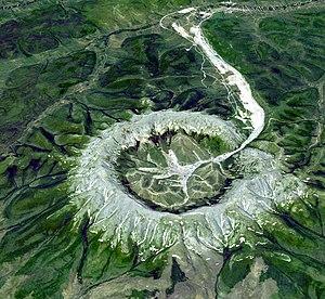 Kondyor Massif - Simulated 3-D view of the Kondyor Massif by ASTER