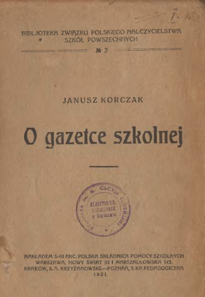 File:Korczak Janusz - O gazetce szkolnej.djvu