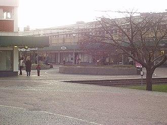 Kortedala - Kortedala Torg, the biggest square in the district.