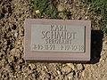 Kriegsopferfriedhof Kloster Arnsburg Grabstein Karl Schmidt, Sergeant.JPG