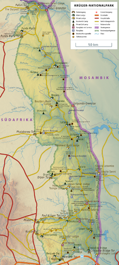 krüger nationalpark karte Kruger Nationalpark – Wikipedia