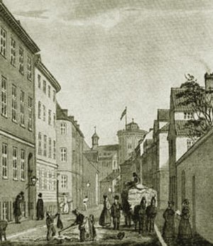 Krystalgade - Old picture from the stret