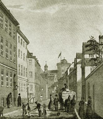 Krystalgade - Old picture from the street