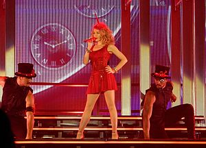 "Timebomb (Kylie Minogue song) - Minogue performs ""Timebomb"" during 2014's Kiss Me Once Tour."
