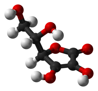 Antioxidant - The structure of the antioxidant vitamin ascorbic acid (vitamin C).
