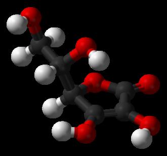 Antioxidant - The structure of the antioxidant vitamin ascorbic acid (vitamin C).