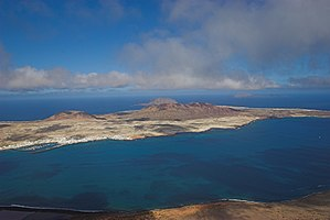 Graciosa, Canary Islands - La Graciosa from Mirador Del Rio