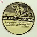 Label; Gall cure for horses and cattle Wellcome L0032865.jpg