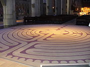 Labyrinth on floor of Grace Cathedral, San Francisco.