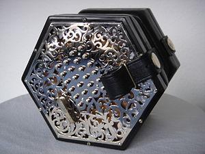 English concertina - Lachenal metal-ended English concertina.