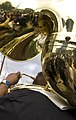Ladies & Men & Women of Unity Hot 8 Brass Band at 2nd & Dryades Sousaphone Reflection.jpg