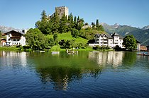 Ladis - Wohnturm der Burg Laudegg um 1200, See.jpg