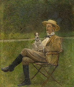 Ladislav Mednyánszky - Study of a Seated Man with a Dog - O 4954 - Slovak National Gallery