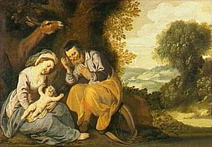 Lambert Jacobsz - Rest on the flight into Egypt by Lambert Jacobsz, Fries Museum, Leeuwarden, 1624