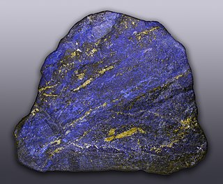 Lapis lazuli A contact metamorphic rock containing lazurite, pyrite and calcite