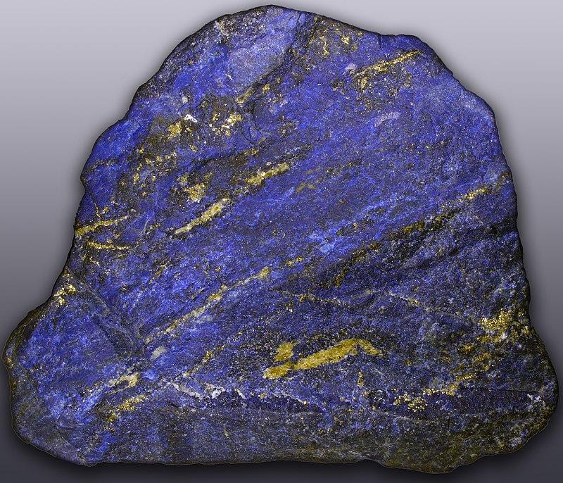 синий цвет минерала лазурит