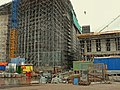 Large scaffoldings on the construction site of the new Library at Oosterdokseiland, Amsterdam-Centrum, 2006.jpg
