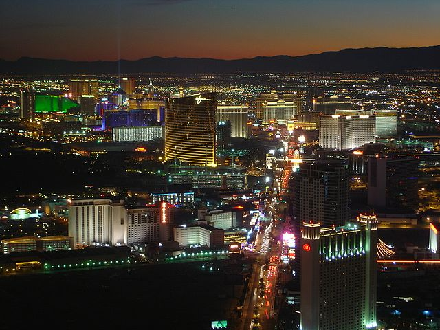 The Las Vegas Strip is renowned for its high concentration of casino resort hotels