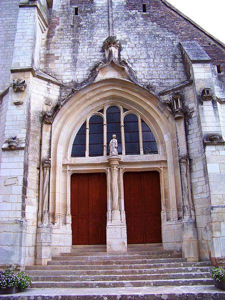 Église Saint-Jean-Baptiste de Lasson, portail occidental