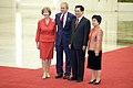 Laura and George Bush with Hu Jintao and wife 2008.jpg