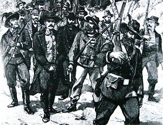 Second Boer War - A sketch showing the arrest of Jameson after the failed raid, in 1896