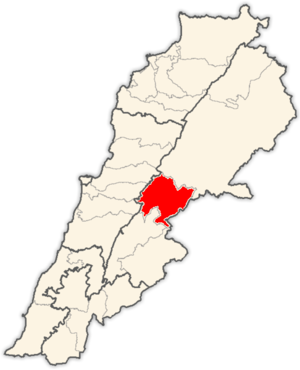 Zahlé District - Image: Lebanon districts Zahle