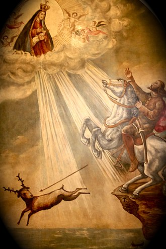 Legend of Nazaré - Representation of the miracle occurred with Dom Fuas Roupinho.