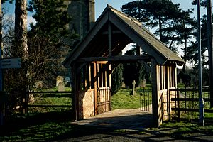 Lychgate - Image: Lenton Lincolnshire Lychgate geograh 1761572 by Bob Harvey