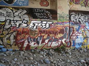 Pan-Indianism - Image: Leonard Peltier Graffiti