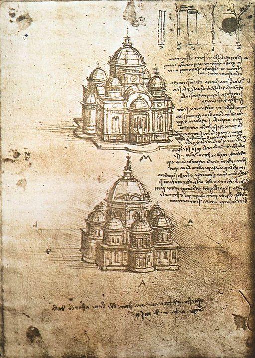 Leonardo da Vinci, Studi per edificio a pianta centrale