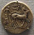 Leontinoi, tetradracma, 480 ac. ca quadriga.JPG