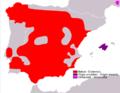 Lepus granatensis range Map.png